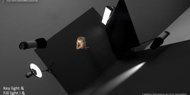 Four Point Lighting 3D Simulation