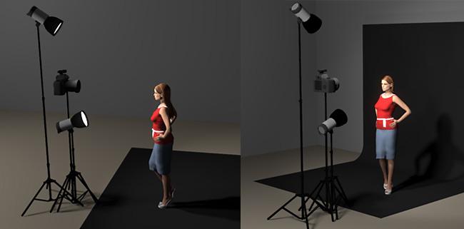 Studio-Ansicht-hochfrontales-licht