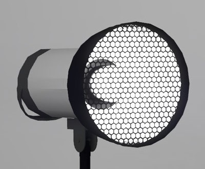 Reflektor-mit-wabe