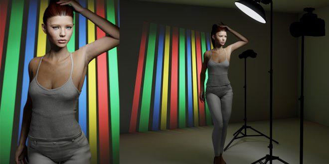 3-hintergrund-projektion-separate-beleuchtung-des-models